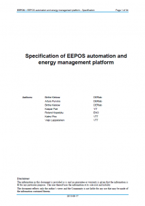 EEPOS - Specification of Automation Platform